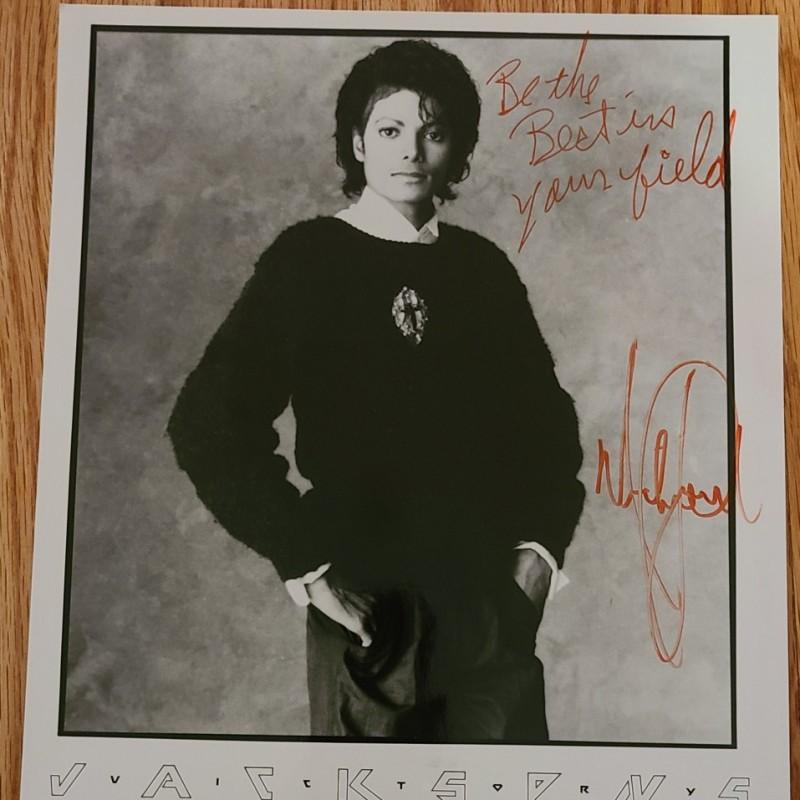 Michael Jackson Hand Signed Photograph