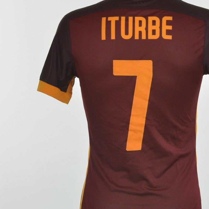 Authenticated Iturbe shirt issued for Frosinone 0-2 Roma