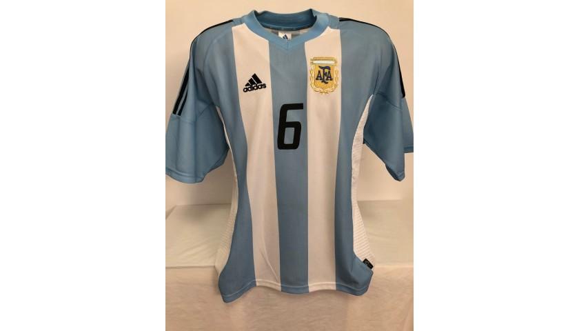 Samuel's Official Argentina Signed Shirt, 2002/04