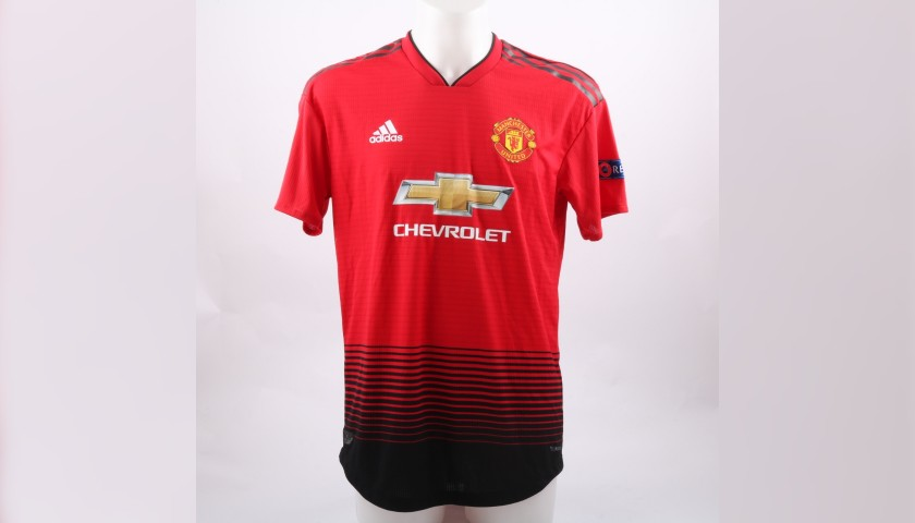 size 40 6a0cc f9e76 Bailly's Worn Shirt, Manchester United-Juventus 2018 - CharityStars