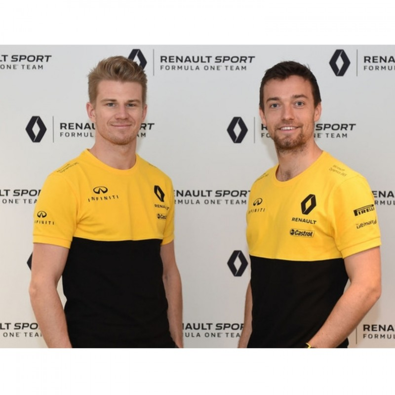 Official Renault Shirt Signed by Sainz and Hulkenberg
