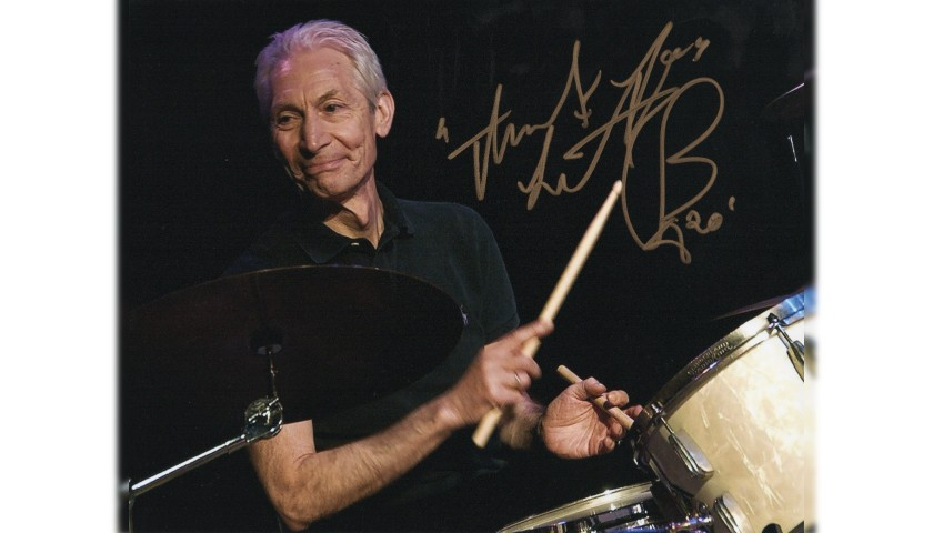 Photograph Signed by the Rolling Stones' Charlie Watts