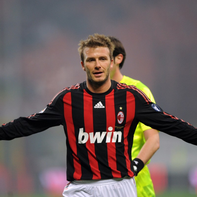 Beckham's Milan Shirt, Issued/Worn 2008/09