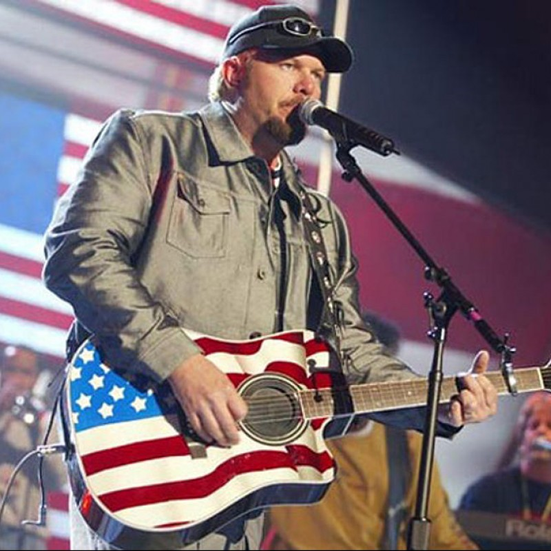Toby Keith Guitar with Digital Signature