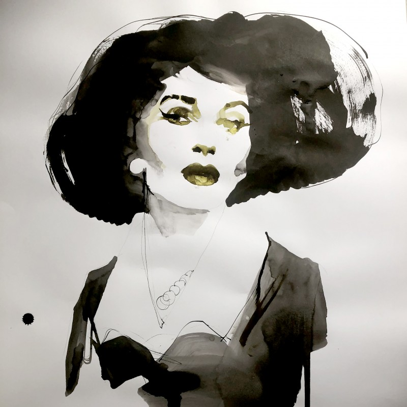 Portrait by Fashion Illustrator Paolo Galetto