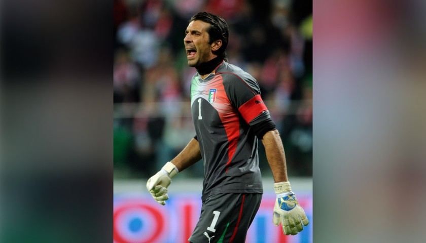 Buffon's Match Shirt, Germany-Italy 2011