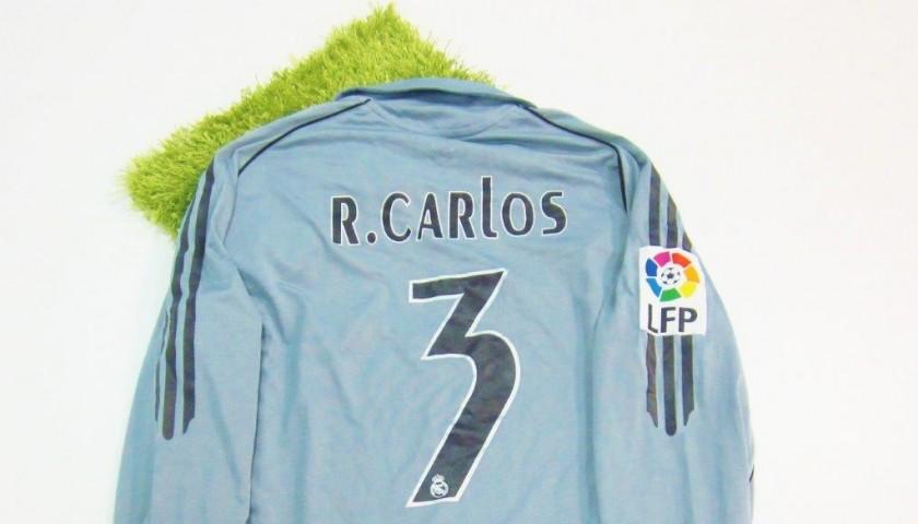 timeless design 78430 02bf9 Roberto Carlos Real Madrid match worn shirt, Liga 2005/2006 - CharityStars