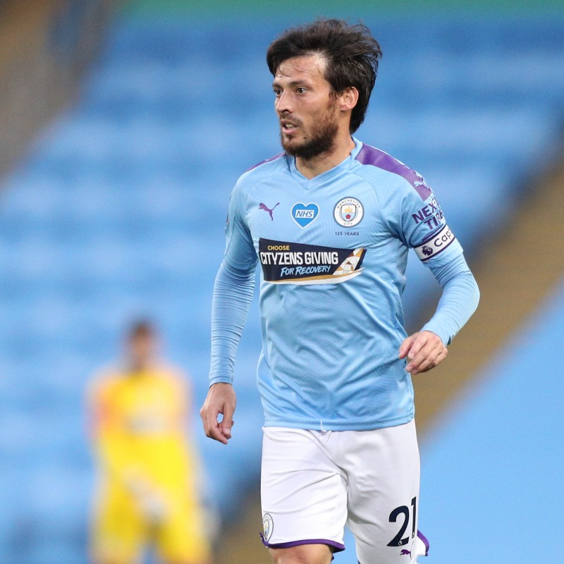 Cityzens Giving for Recovery Match Issued Shirt Signed by David Silva