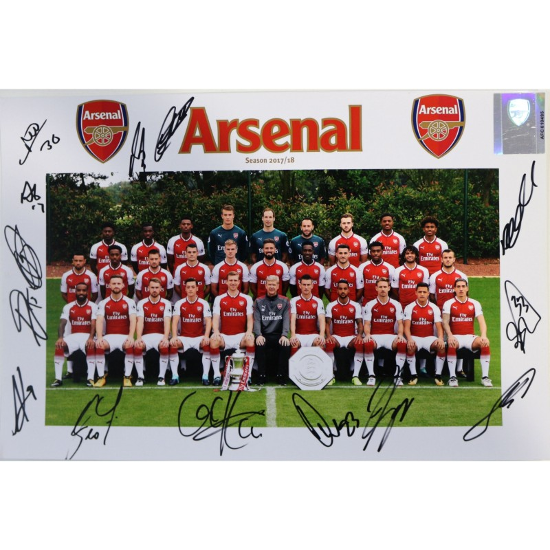 Arsenal FC A4 Team Photograph Signed by the Squad of 2017|18