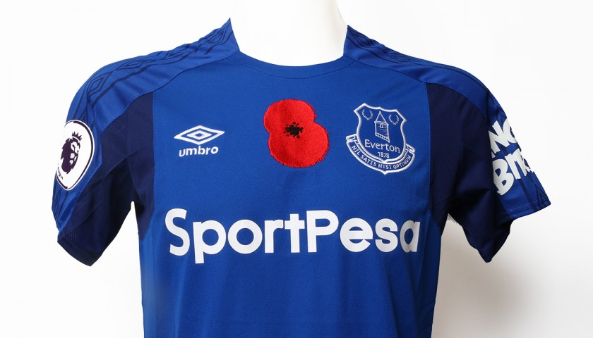 newest bfbe1 5c622 Issued Poppy Home Game Shirt Signed by Everton FC's Idrissa Gana Gueye -  CharityStars