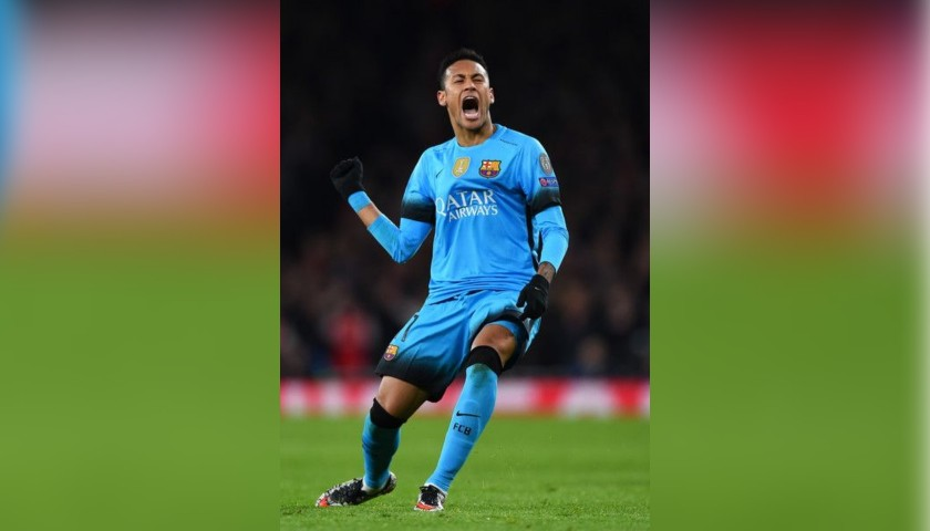 Neymar's Barcelona Match Shirt, UCL 2015/16