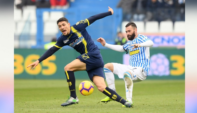 Antenucci's Worn and Signed Shirt, Spal-Chievo 2018