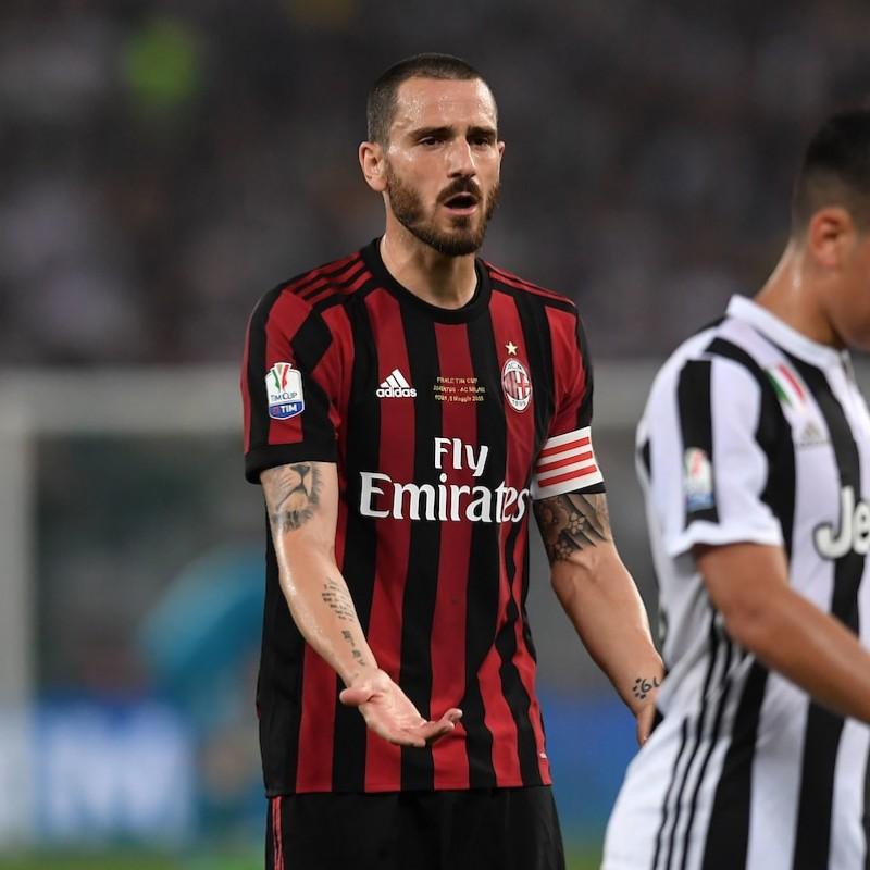 Maglia gara Bonucci Milan, Finale Coppa Italia 2018 - Autografata