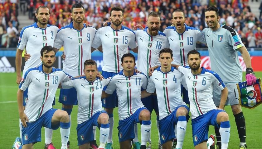 Candreva's Match-Issue Belgium-Italy Euro 2016 Shirt