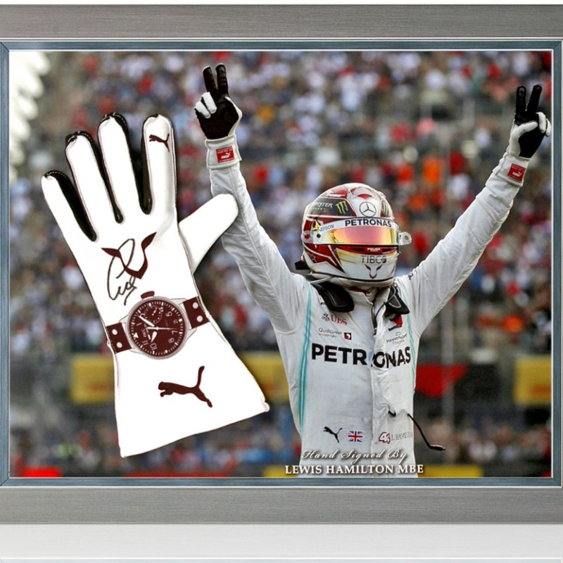 Lewis Hamilton MBE Hand Signed Drivers' Glove