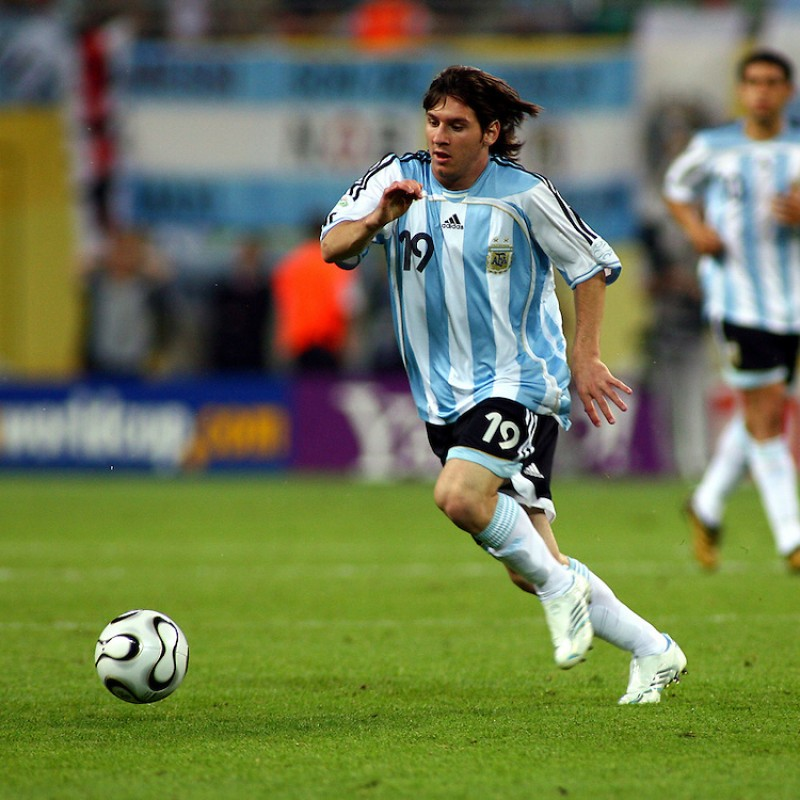 Messi's Official Argentina Signed Shirt, 2005