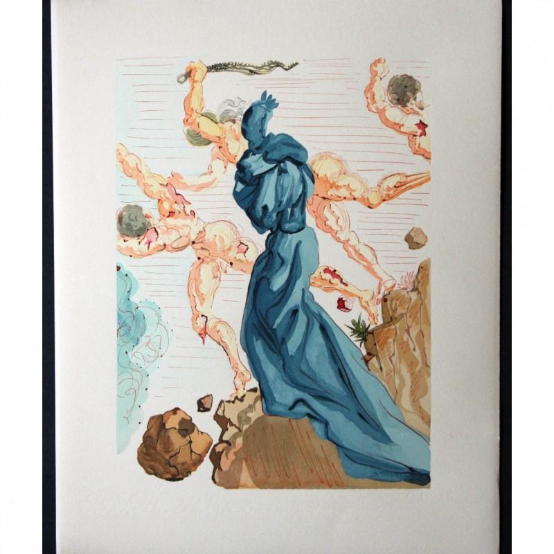 """Original Board by Salvador Dalì - """"I seduttori"""" Inferno Canto XVIII"""