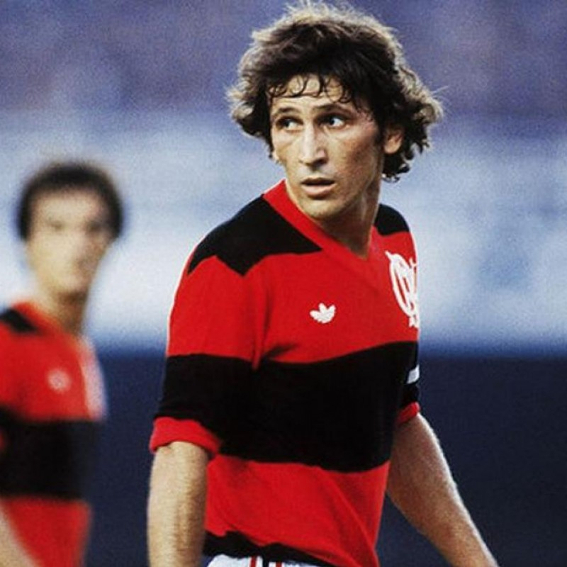 Official Flamengo Shirt, Signed by Zico