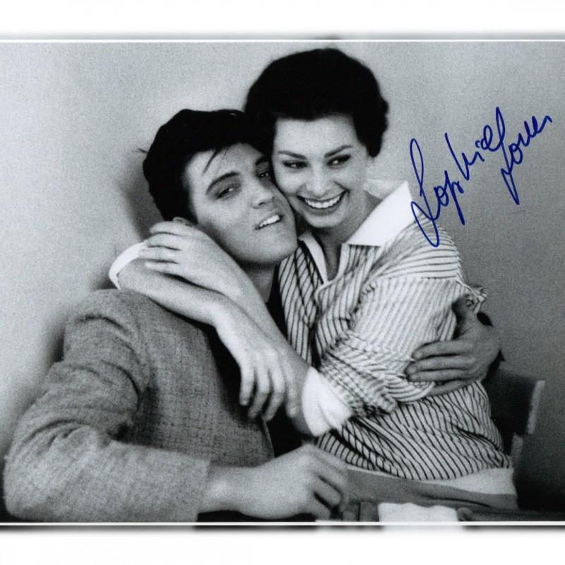 Sophia Loren with Elvis Signed Photograph