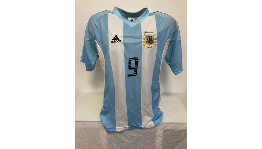 Batistuta's Official Argentina Signed Shirt, 2002/03