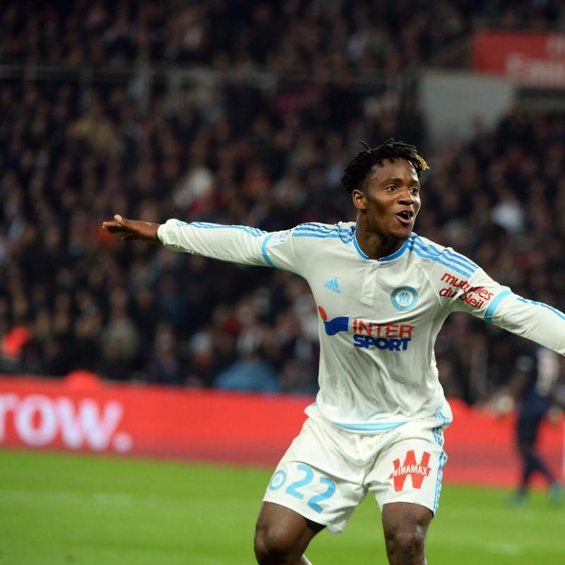 Batshuayi Marseille Match Worn Shirt, Ligue 1 2015/16