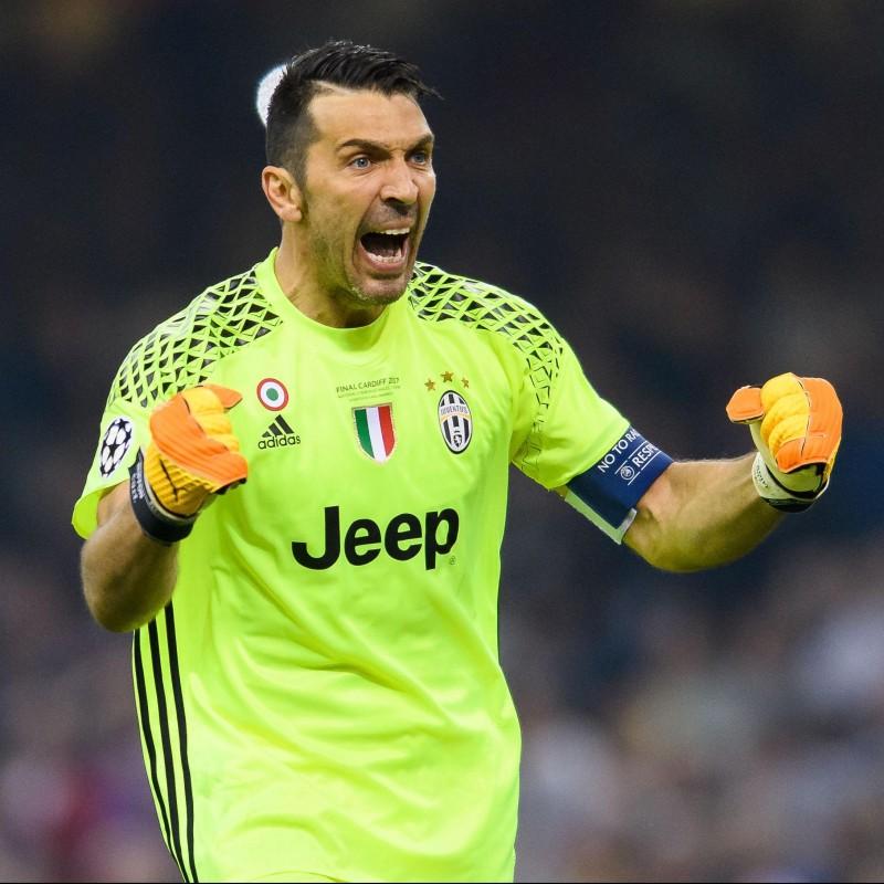 Buffon's Juventus Match-Issue Shirt, Cardiff 2017 Final