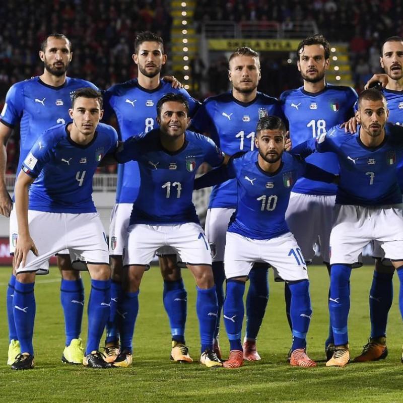 Chiellini's Match Signed Shirt, Albania-Italy 2017