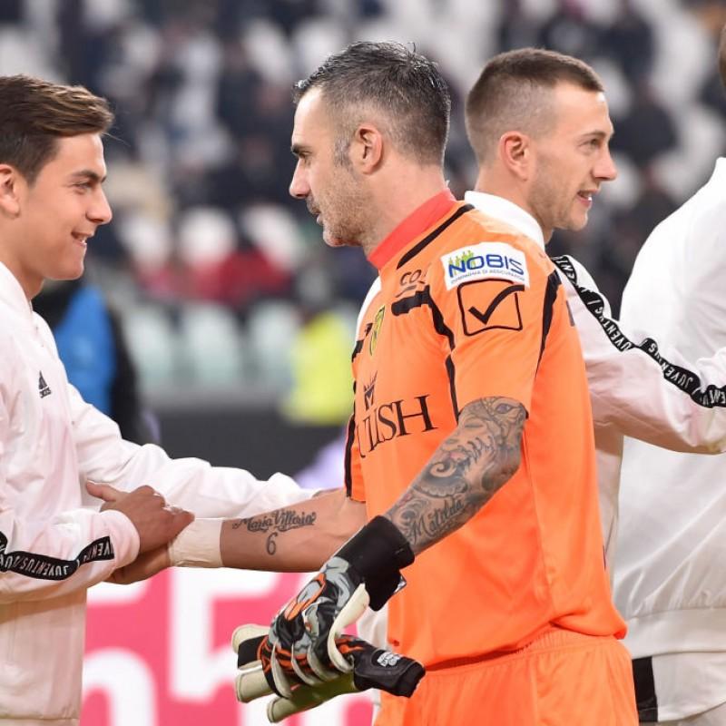 Sorrentino's Worn and Signed Goalkeeper's Gloves - #InCampoConSte