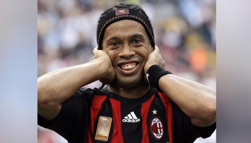 Ronaldinho's Official AC Milan Shirt, 2008/09 - Signed