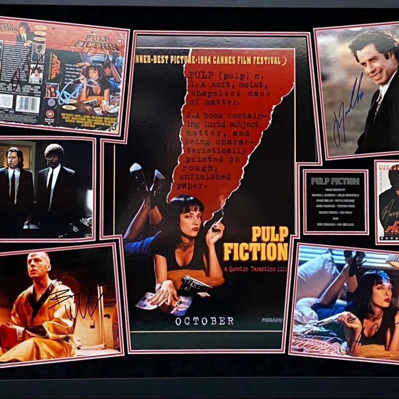 Pulp Fiction Cast Signed Display