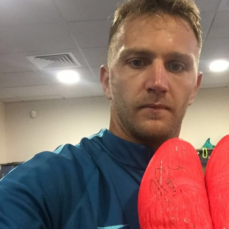 Criscito's Zenit St. Petersburg Match Worn Boots, 16/17 Season - Signed