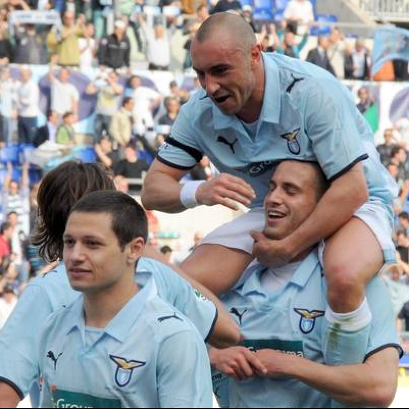 Brocchi's UNWASHED 2008/09 Serie A Match-Worn Lazio Shirt