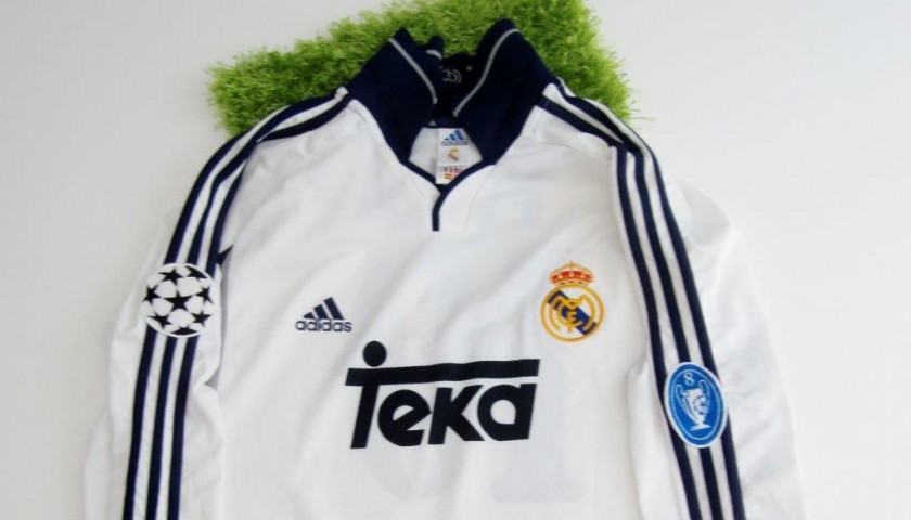 buy popular 2286a 63995 FIgo match issued/worn shirt, Real Madrid, Champions League 2000/2001 -  CharityStars