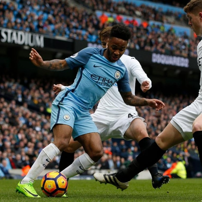Sterling's Manchester City Shirt, Issued/Worn PL 2016/17
