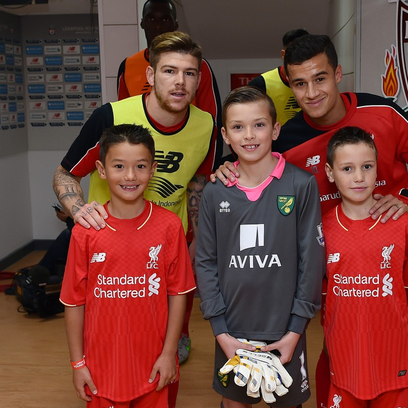 Mascot for Liverpool FC v FC Barcelona – Wembley Stadium, August 6th 2016