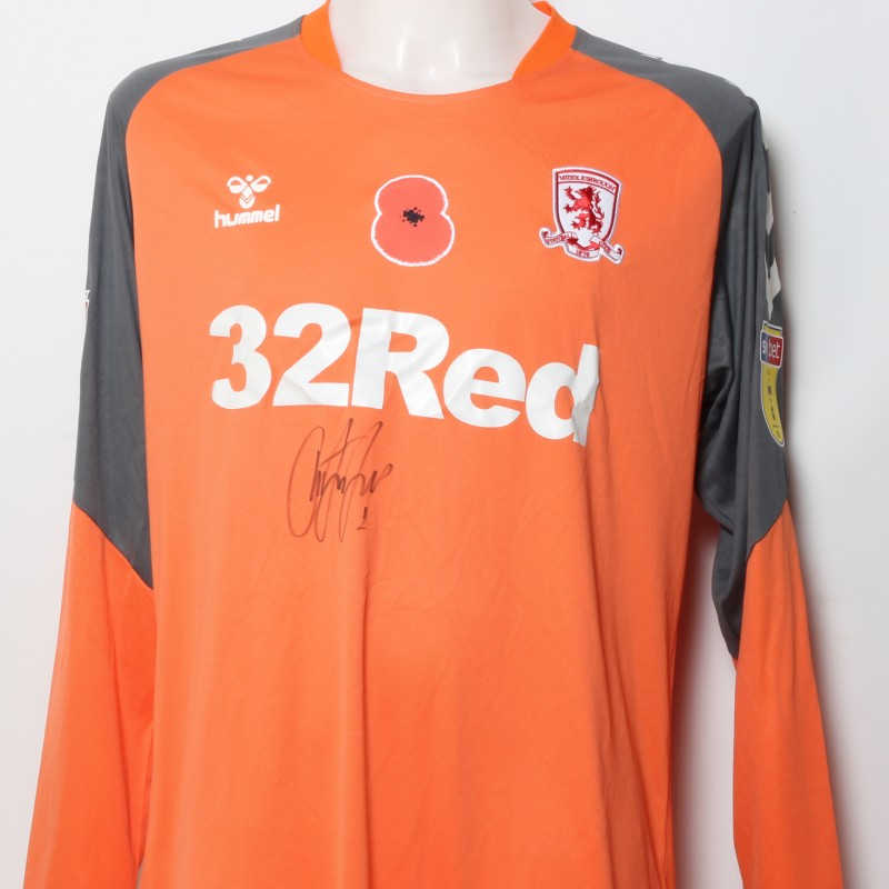 Dimi's Middlesbrough Worn and Signed Home Poppy Shirt
