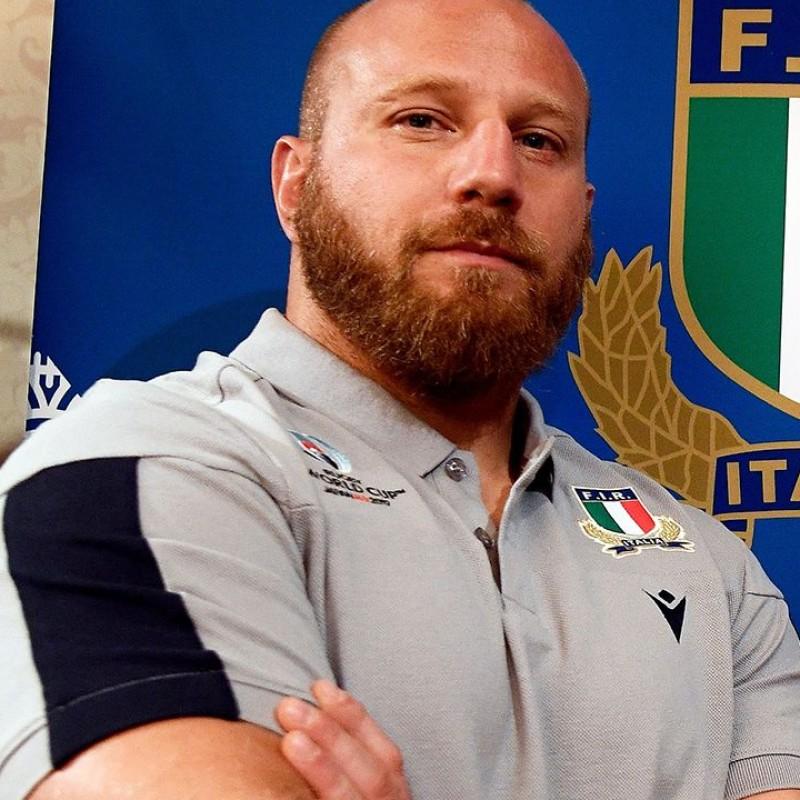 Ghiraldini's Official FIR Worn Polo Shirt, Rugby World Cup 2019