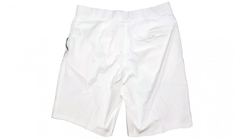 Federer's Worn and Signed Shorts, Dubai 2011