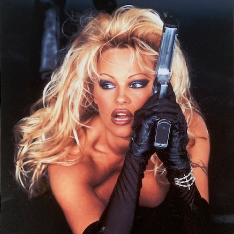 Pamela Anderson Signed & Personalised Barb Wire Photo