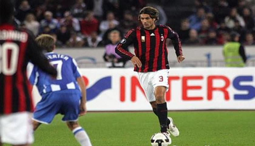 Maldini's Match-Worn Zurich-Milan Shirt, 2008/09