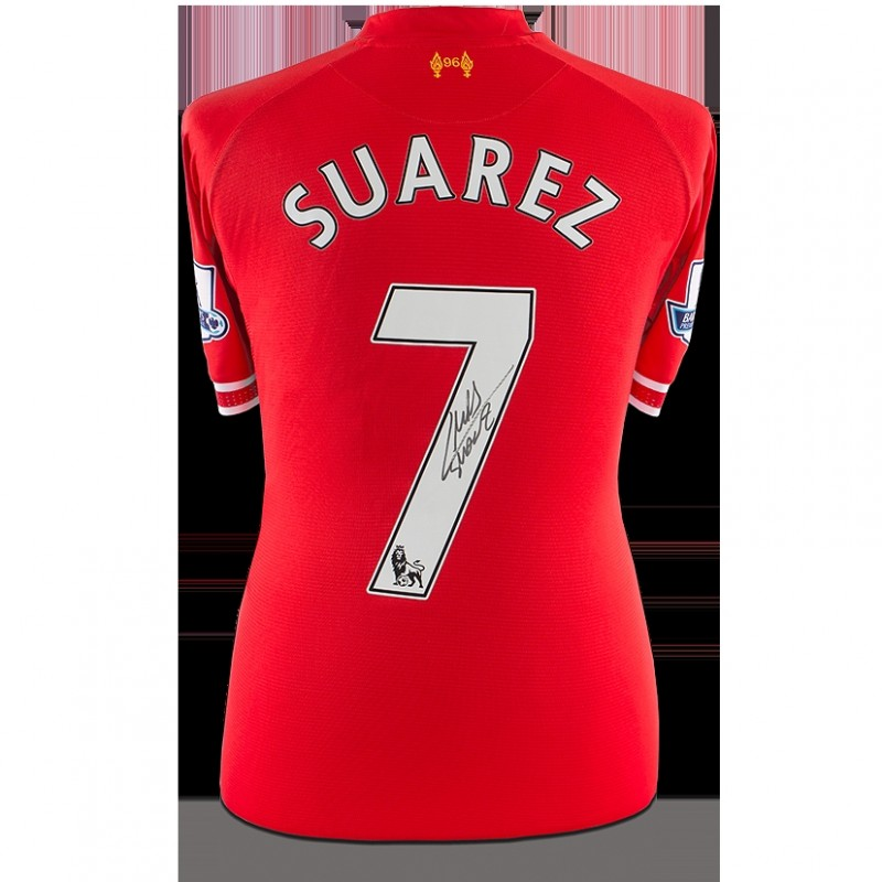 Match Worn Luis Suarez Signed Liverpool Shirt