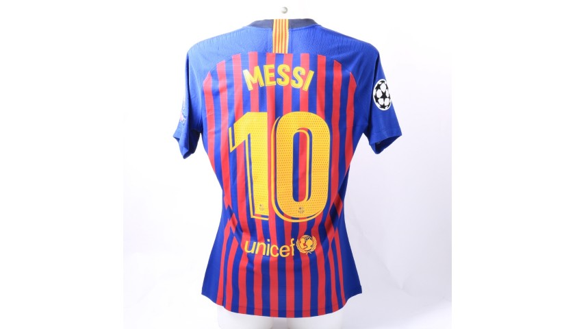 4c3436e73 Messi s Barcelona Match-Issue Worn Shirt