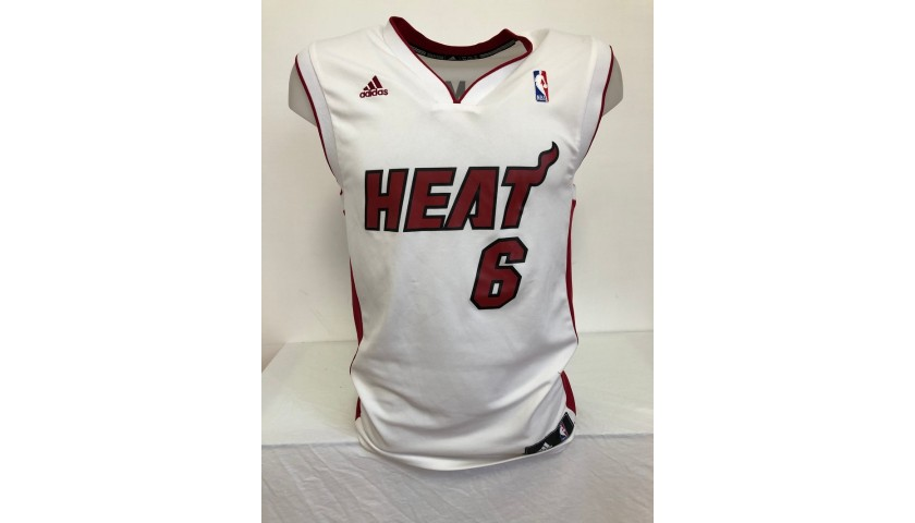 Lebron James' Official Miami Heat Signed Jersey