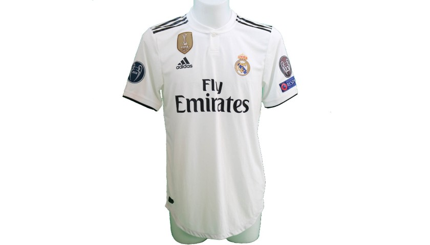 brand new 78b8a b2153 Bale's Real Madrid Match-Issue/Worn Shirt, Liga UCL 2018/19 - CharityStars