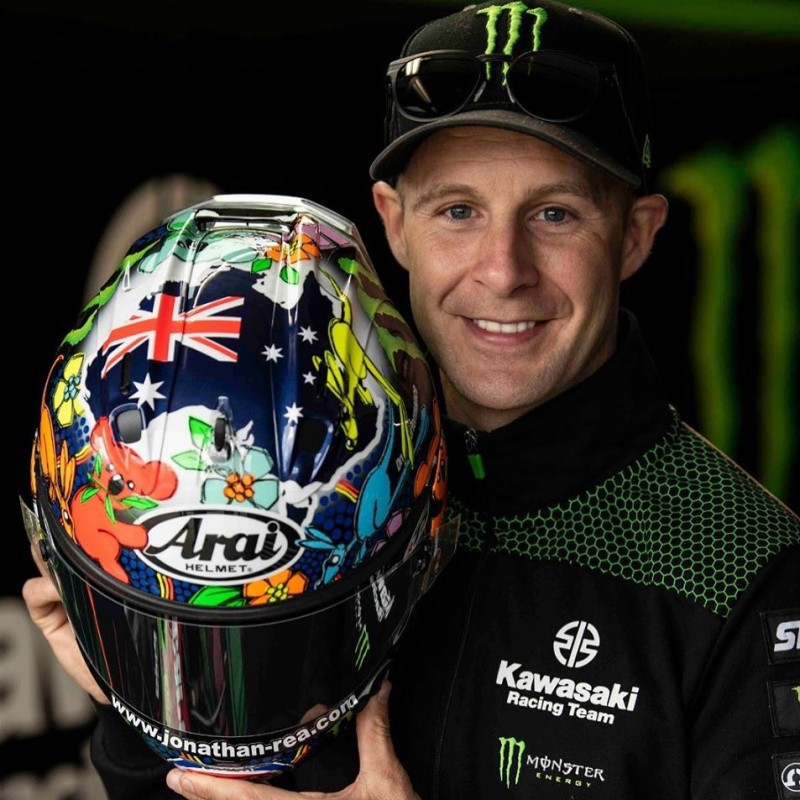 Jonathan Rea's Special Helmet worn in the Australian Superbike Grand Prix 2020
