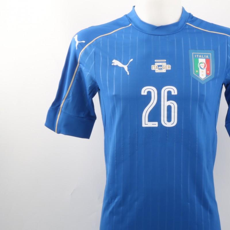 Rugani Match issued Shirt, Italy-Germany 15/11/2016