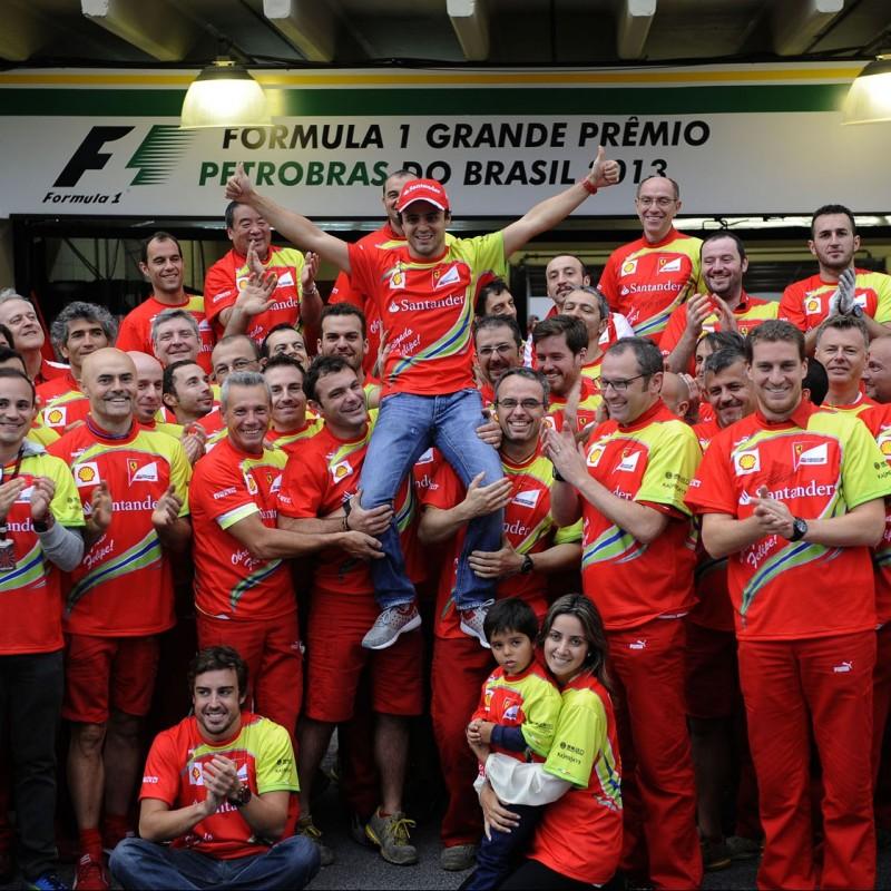 Special Celebratory T-shirt for Massa's Last Ferrari Race, Brazil 2013