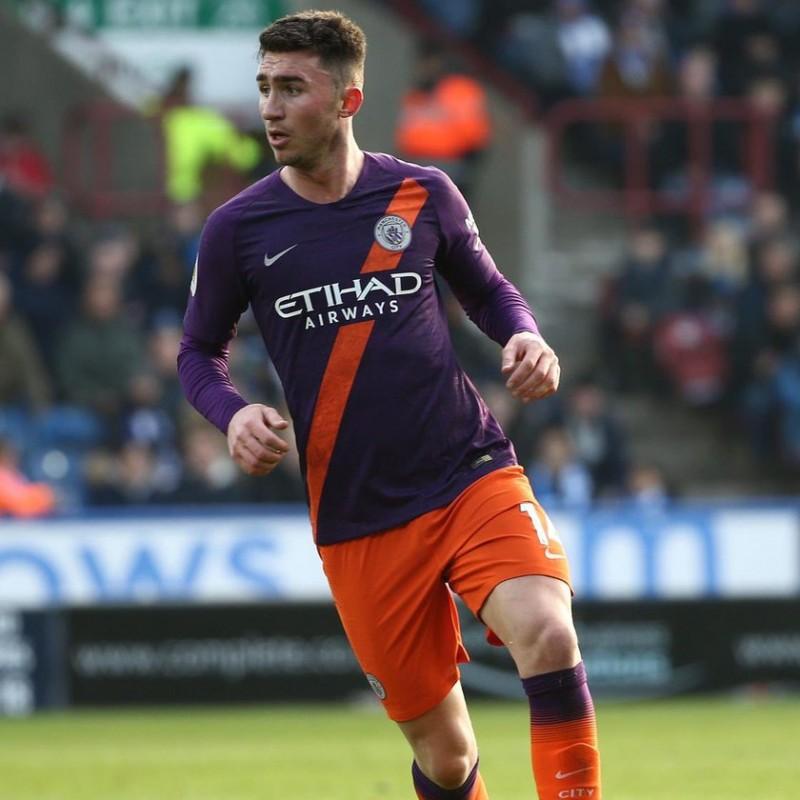 Laporte's Worn Shirt, Huddersfield-Man City 2019