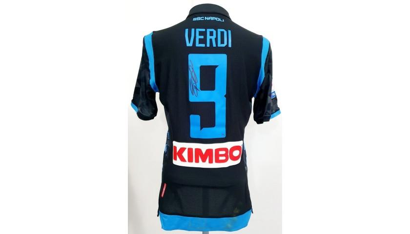 Verdi's Napoli Match Worn and Signed Shirt, 2018/19