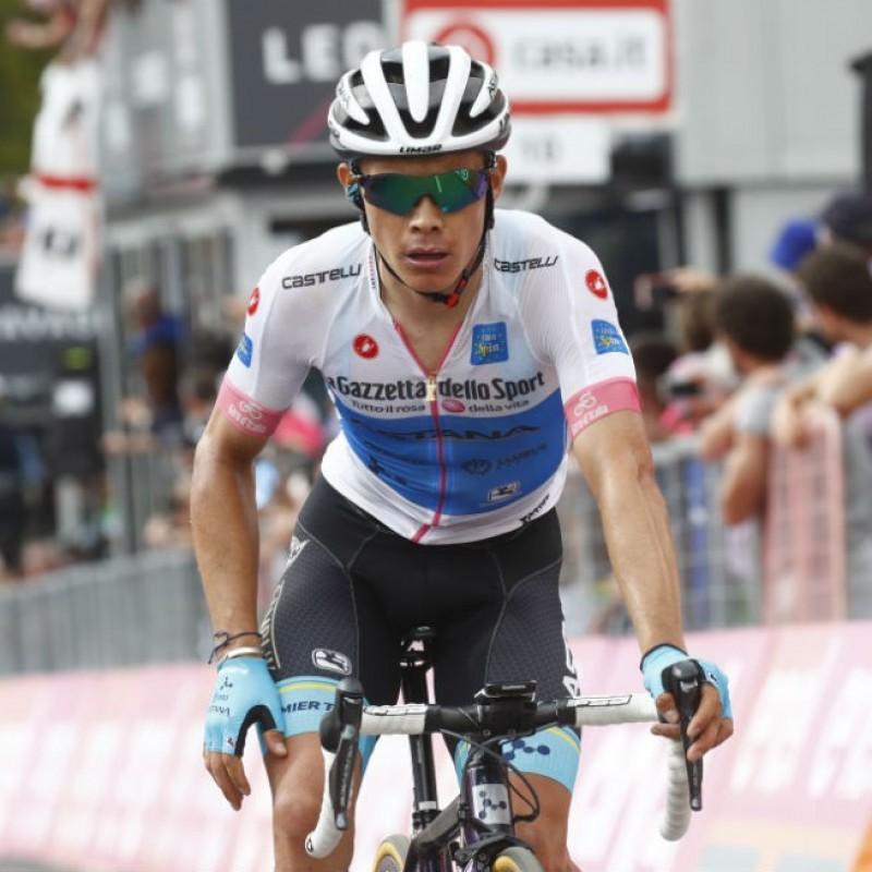 Maglia Bianca Giro d'Italia 2018 - Autografata da Miguel Lopez